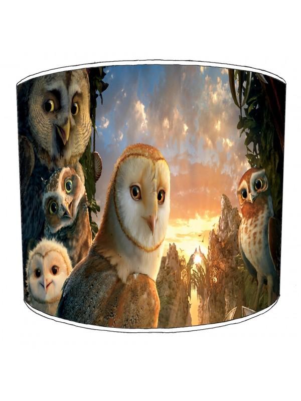 owls lampshade 11