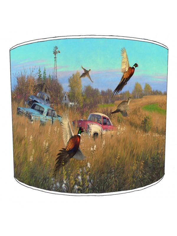pheasant lampshade 11