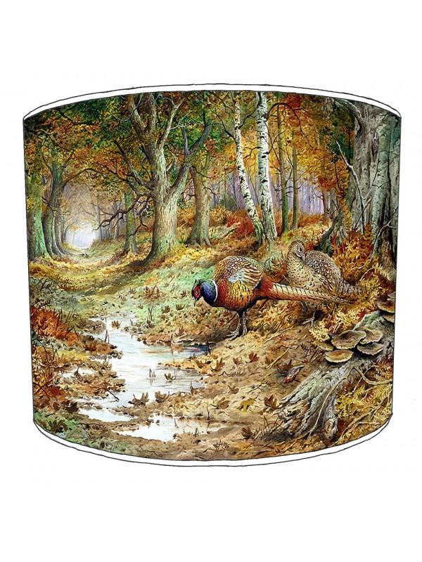 pheasant lampshade 8