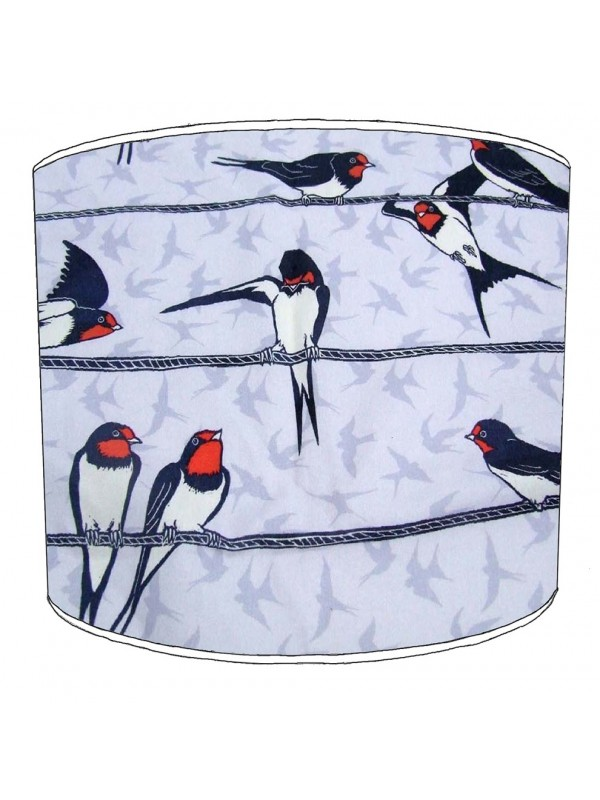 swallows lampshade 10