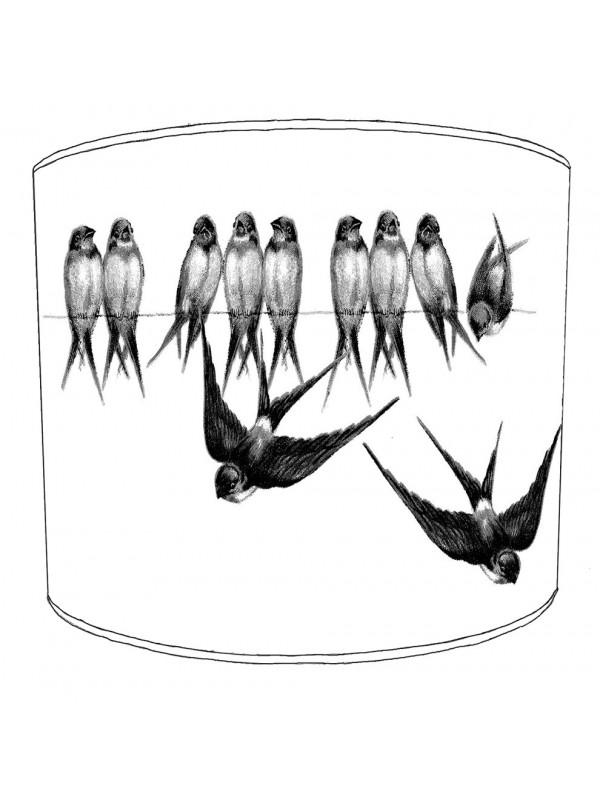 swallows lampshade 13