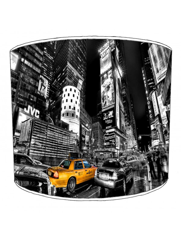 city of new york yellow taxi lampshade