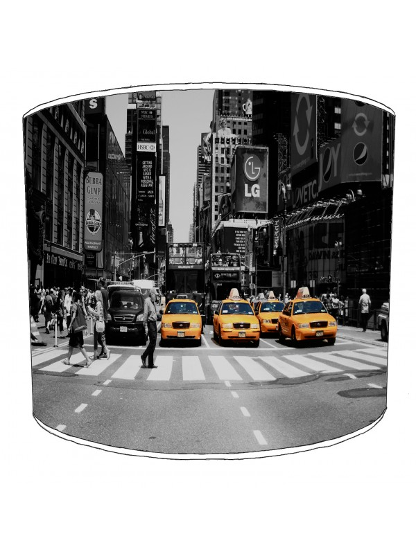 city of new york 4 yellow cabs lampshade