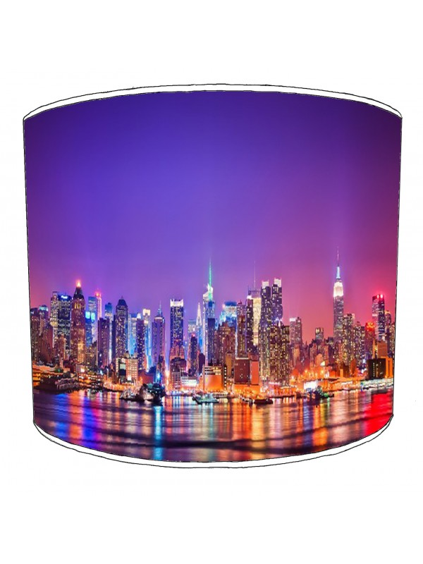 city of new york colourful skyline lampshade