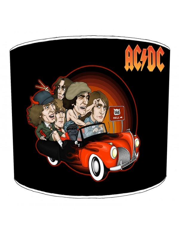 ac dc highway to hell lampshade