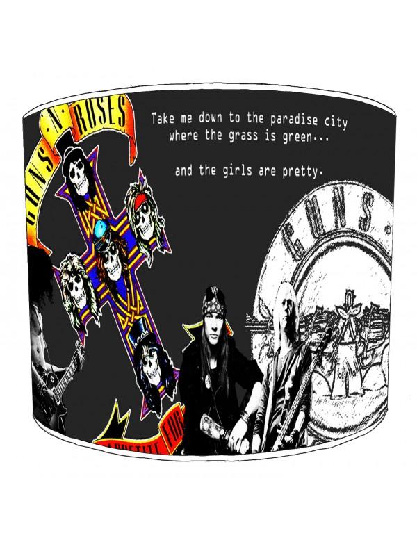 guns n rose rock bands lampshade 2