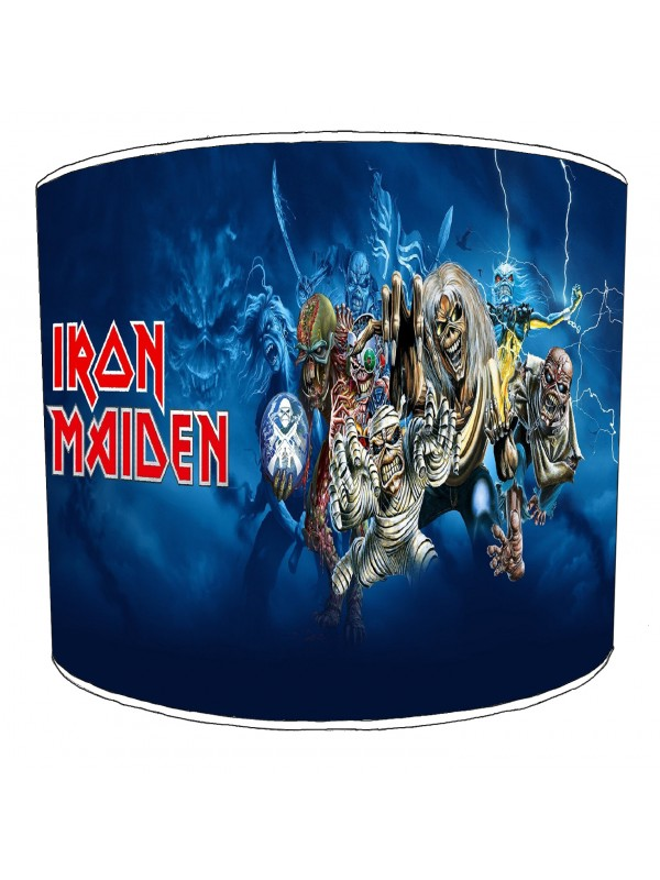 iron maiden rock bands lampshade 3
