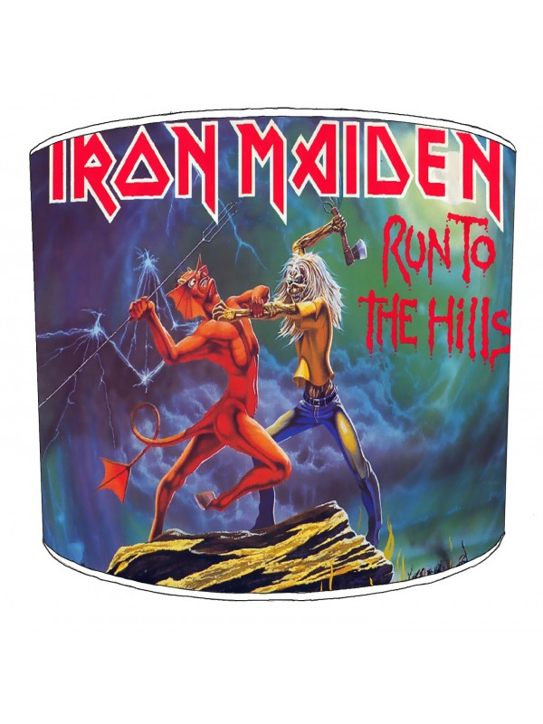 iron maiden run to the hills lampshade