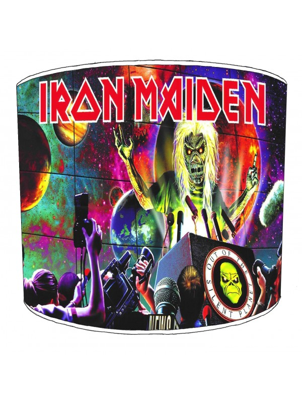 iron maiden rock bands lampshade 8