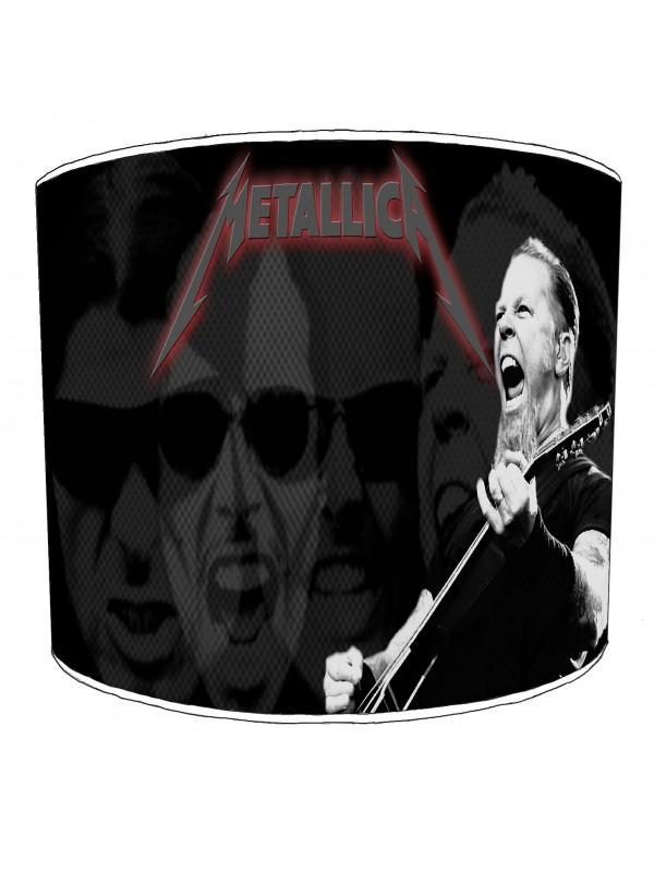 metallica rock bands lampshade 2