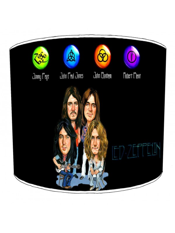 led zeppelin rock bands lampshade 4