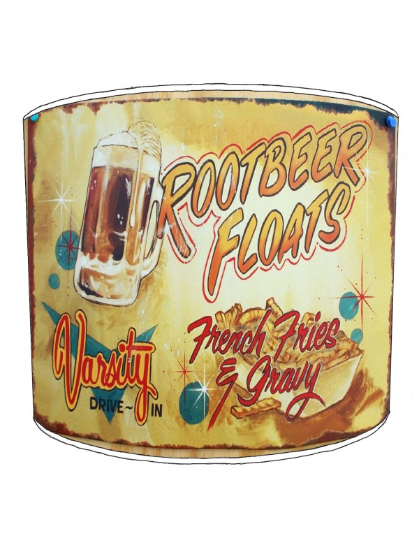 american diner rootbeer floats lampshade