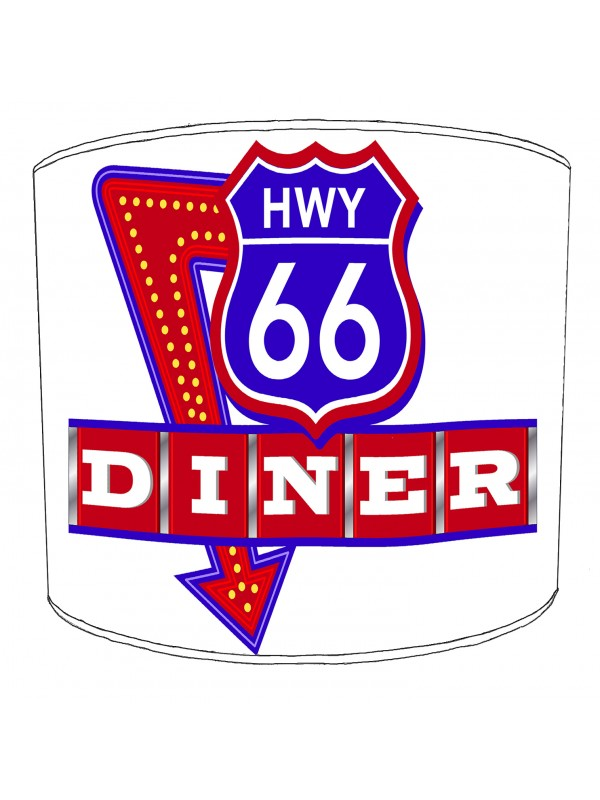 american diner route 66 lampshade