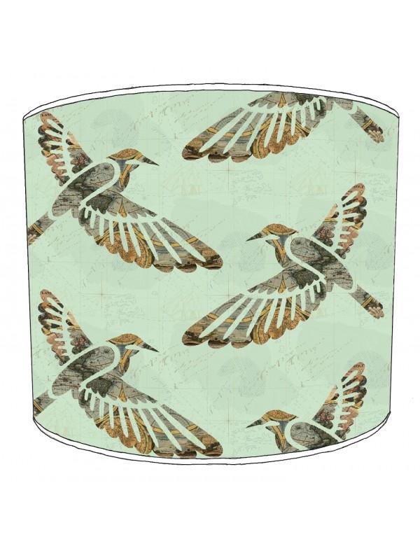 vintage birds lampshade 13