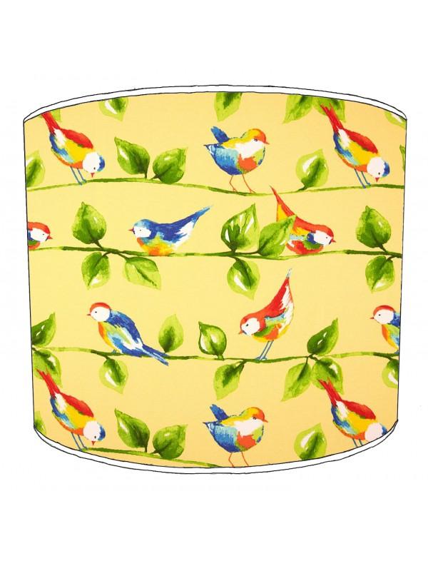 vintage birds lampshade 15