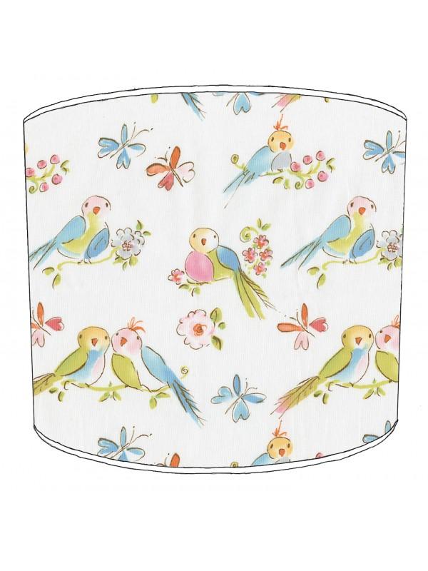 vintage birds lampshade 16