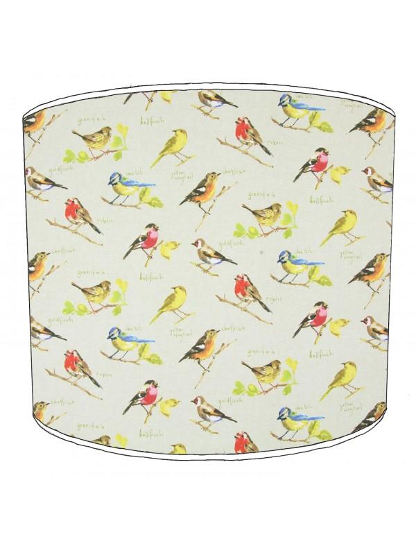 vintage birds lampshade 19