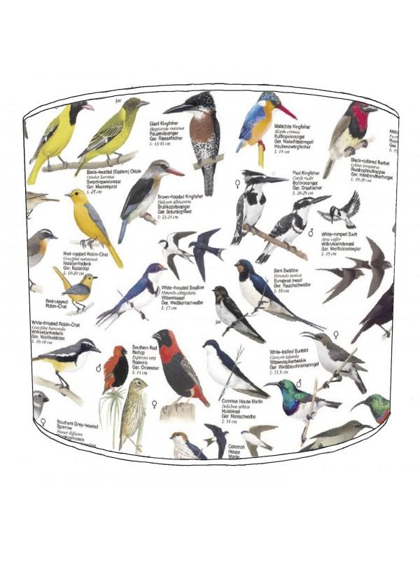 vintage birds lampshade 2