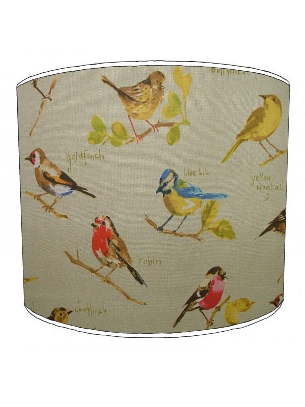 vintage birds lampshade 7