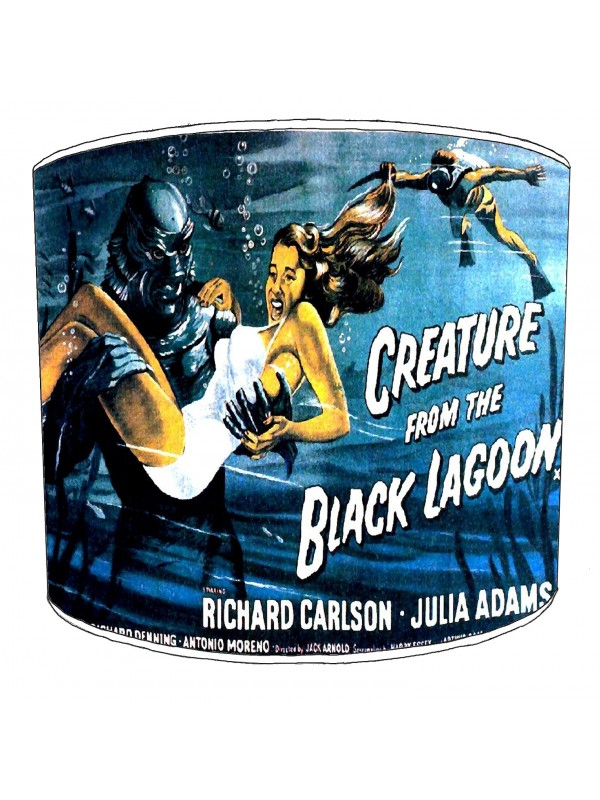 vintage horror films lampshade 11