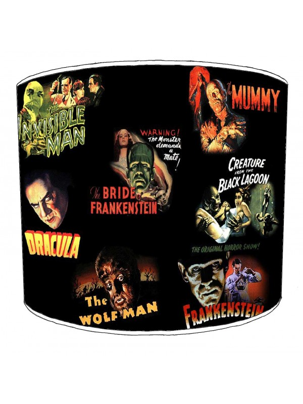 vintage horror films lampshade 21