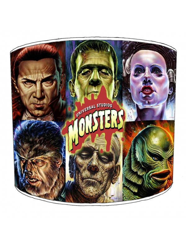 vintage horror films lampshade 27