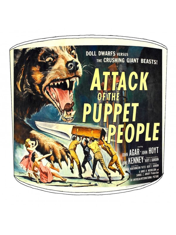 vintage horror films lampshade 7