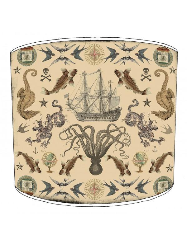 vintage nautical lampshade 10