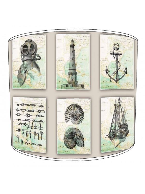 vintage nautical lampshade 13