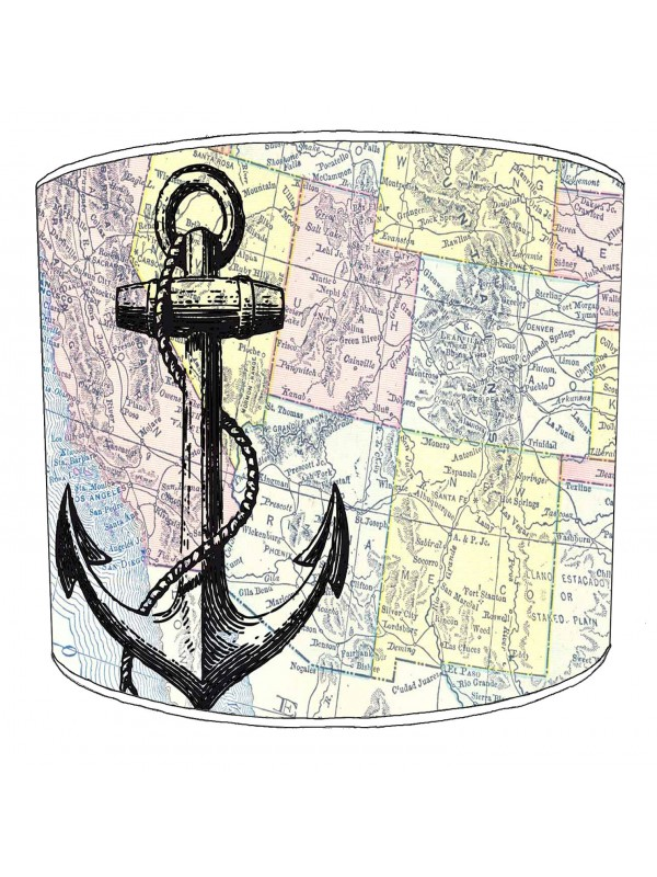 vintage nautical lampshade 6