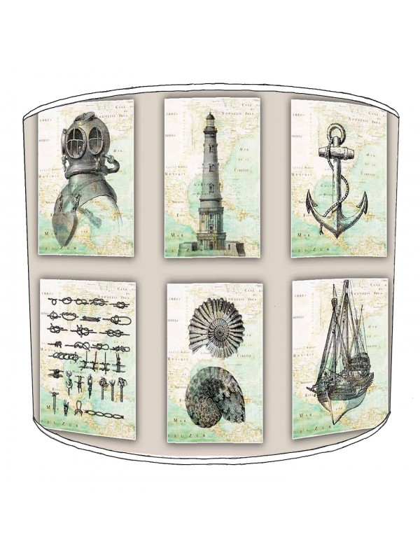 vintage nautical lampshade 7
