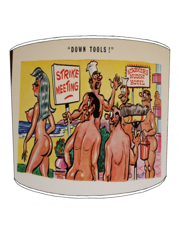 vintage raunchy postcards lampshade 13