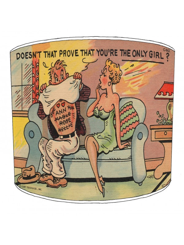 vintage raunchy postcards lampshade 16