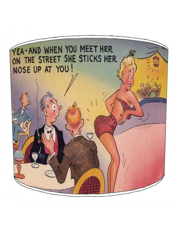 vintage raunchy postcards lampshade 17