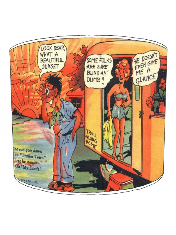 vintage raunchy postcards lampshade 21