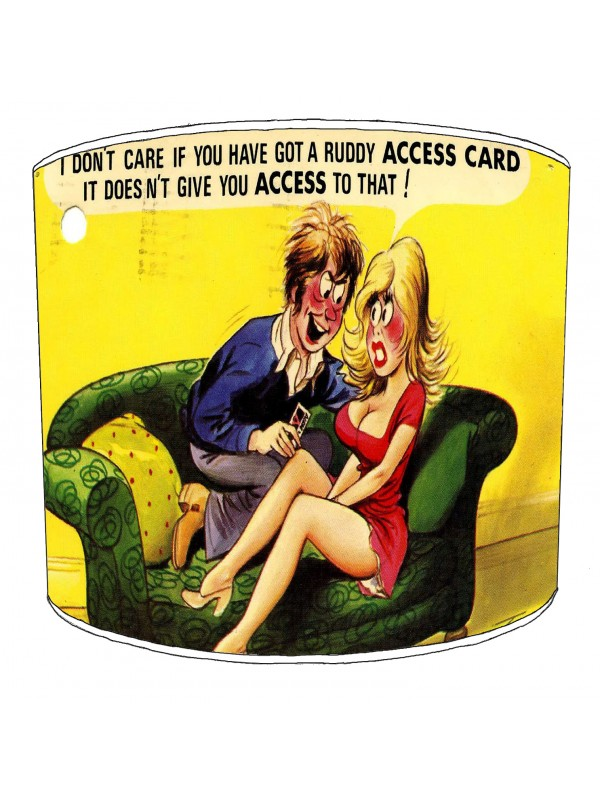 vintage raunchy postcards lampshade 3