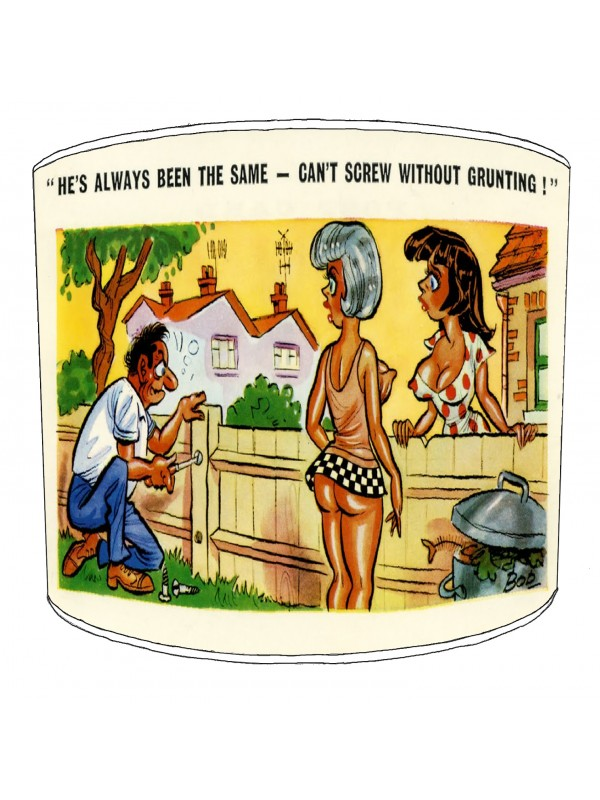 vintage raunchy postcards lampshade 8