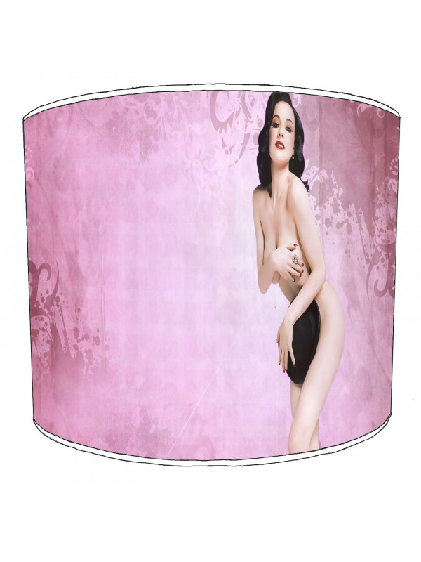 retro pin up lampshade 10
