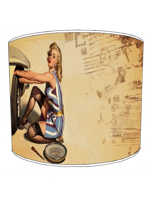 retro pin up lampshade 11