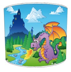 Knights and Dragons Childrens Lampshades