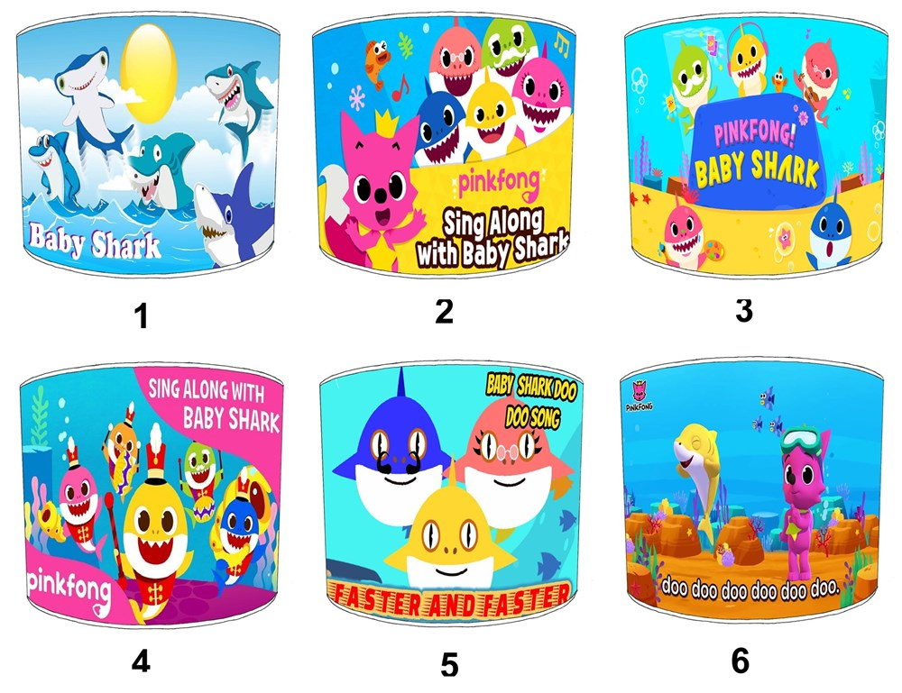 Baby Shark Dance Song Lampshades Ideal To Match Childrens