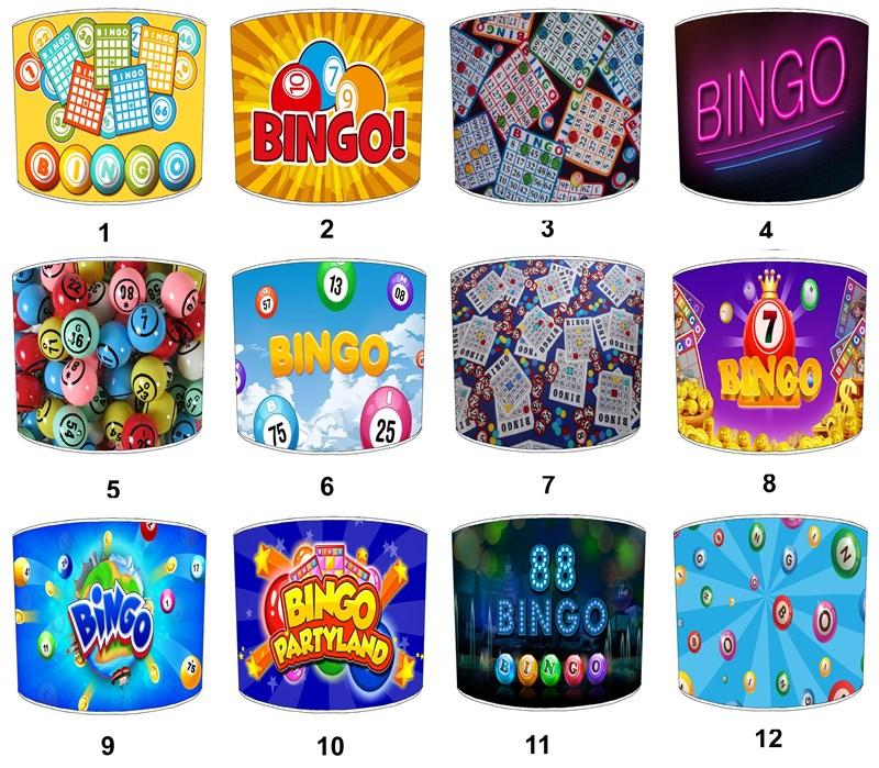 lampenschirme ideal passend zu bingo kissen bingo bettdecke bingo karten ebay. Black Bedroom Furniture Sets. Home Design Ideas