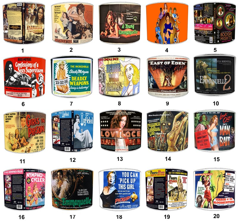 Vintage Erotic Films Designs Lampshades, Ceiling Light Shades, Table ...